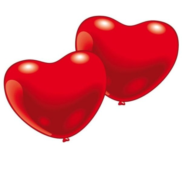 10 ballons coeur rouge - Decoration coeur rouge ...