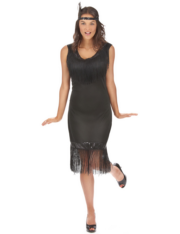 fcb397a67262c Déguisement robe Charleston noire femme -