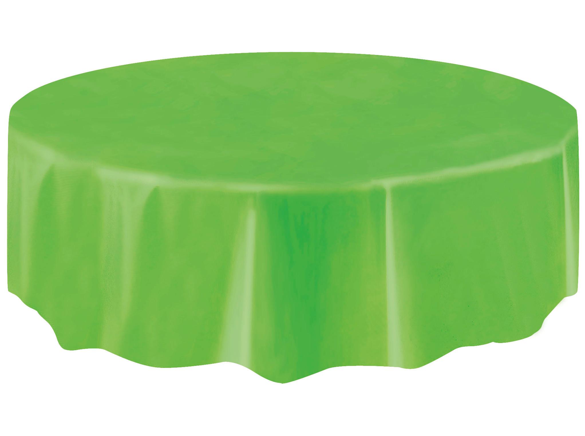 nappe ronde en plastique vert citron. Black Bedroom Furniture Sets. Home Design Ideas