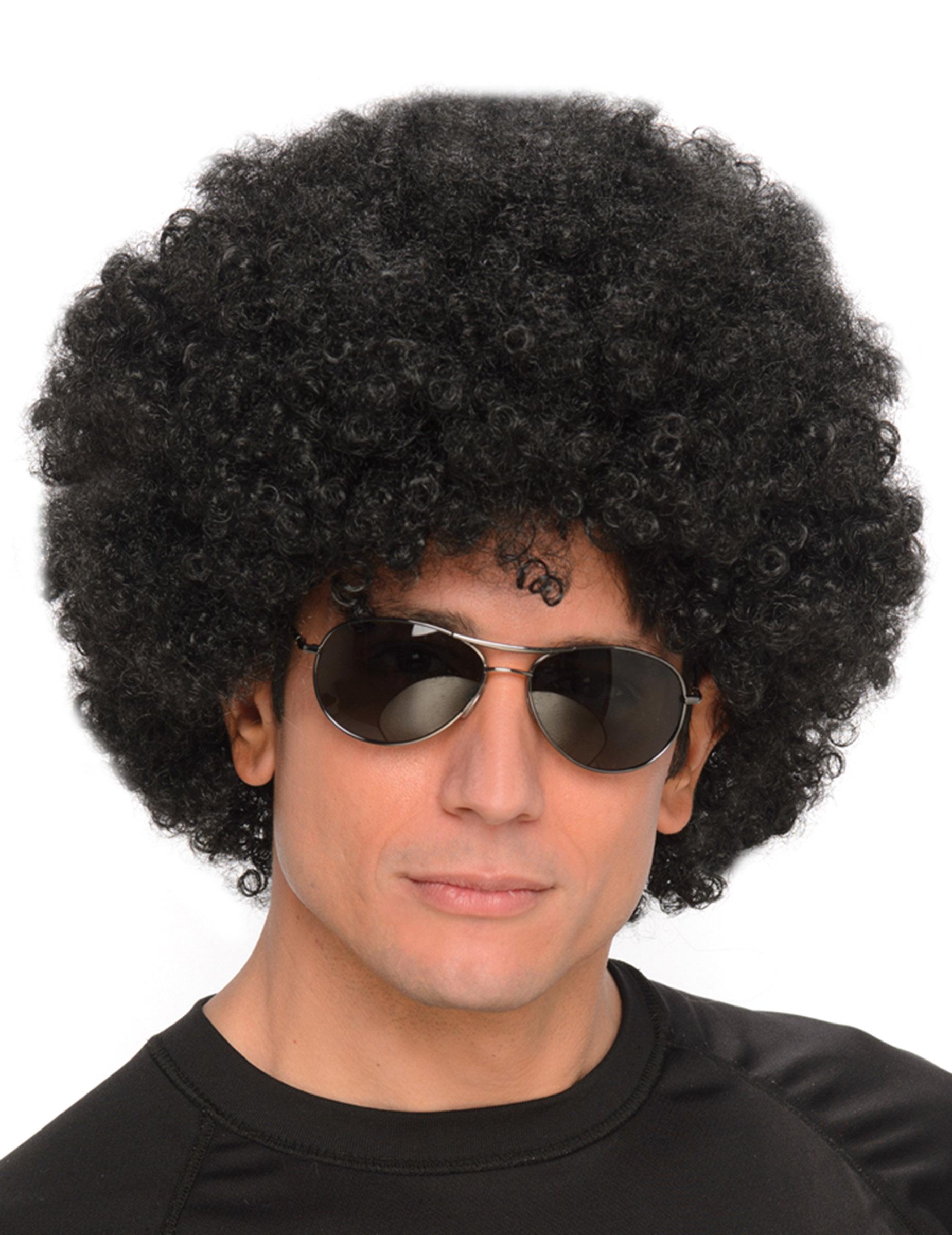 Perruque Afro Noire Homme Moncostume Ch