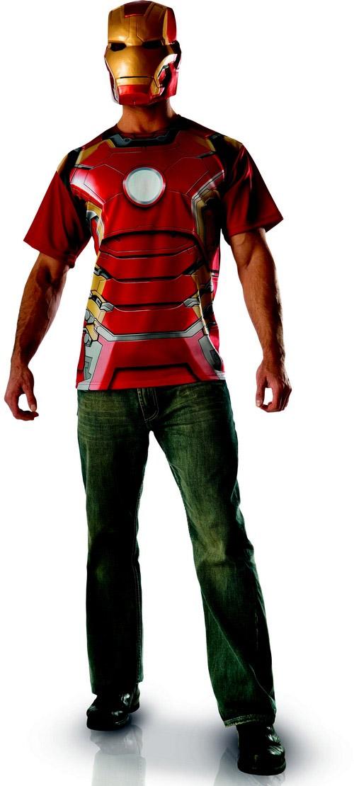 T shirt et masque adulte iron man movie 2 - Masque iron man adulte ...
