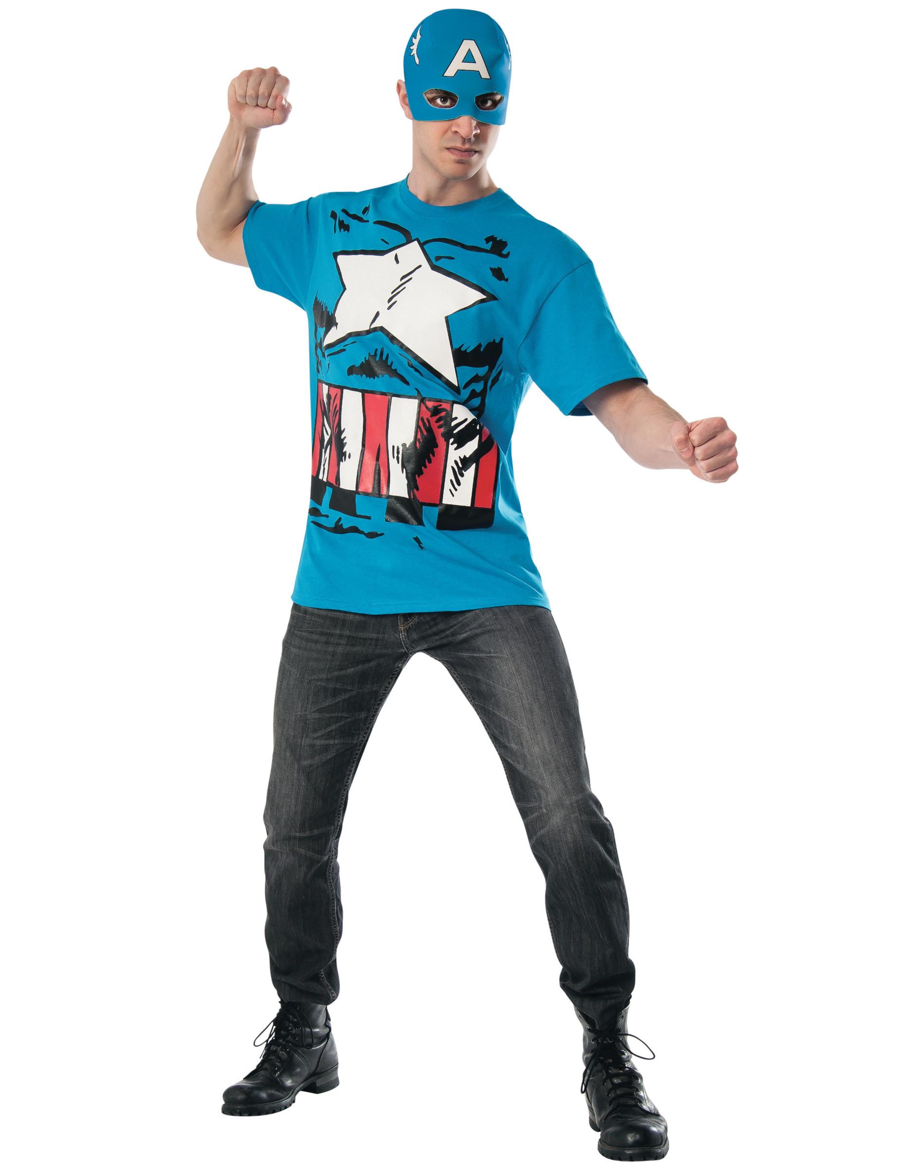D guisement et masque captain america avengers adulte - Masque de captain america ...